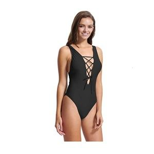Other - NWOT Lace up One Piece Bikini Swimwear Large